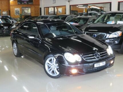 2005 Mercedes-Benz CLK280 C209 MY06 Avantgarde Obsidian Black 7 Speed Automatic G-Tronic Coupe Seaford Frankston Area Preview
