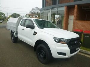 2015 Ford Ranger PX MkII XL Super Cab 4x2 Hi-Rider White 6 Speed Sports Automatic Cab Chassis Merrylands Parramatta Area Preview
