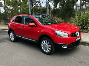 2013 Nissan Dualis J10 Series 3 Ti Hatch 5dr X-tronic 6sp 2WD 2.0i [MY12] Flame Red Arncliffe Rockdale Area Preview