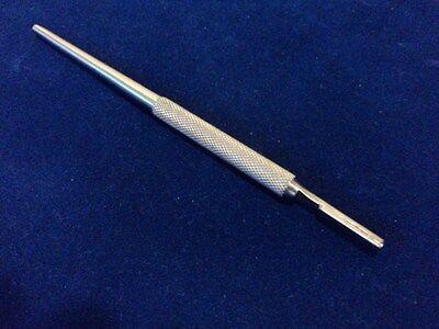 O.r Grade Round Pattern Scalpel Handle 3 Straight Surgical Dental Veterinary