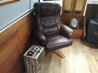 Relaxation Reclining Leather Style Office Chair Very Comfortable Was £399 Now Only £70