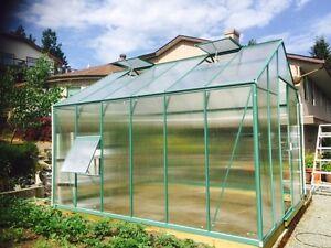 Brand New Aluminum Polycarbonate Greenhouse