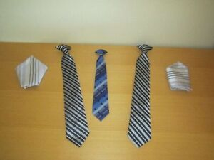 Boy's Clothes Suit Clip Ties & kerchief, QTY = 5