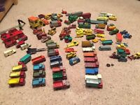 63 various small diecast metal vehicles in a used condition