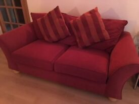 A pair of three seater sofas ( Ex Sterling ) very good condition.