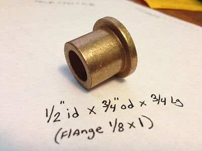 Oilite Flange Bushing Bronze New 12 Id X 34 X34 Brass Bearing Shim Spacer F36