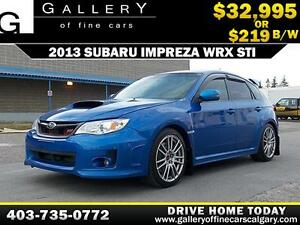 2013 Subaru Impreza WRX STi $219 bi-weekly APPLY NOW DRIVE NOW