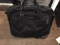 Briggs and Riley all leather black briefcase