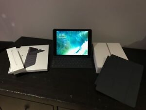 """iPad Pro 9.7"""" Space Grey with Cellular 128GB plus covers, pencil"""