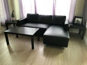 Couch with Chaise Lounge - Delivery Available