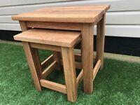 Solid Oak Nest of Tables - Brand New - Brooklyn Oak