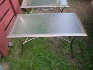 Two Patio Coffee Or End Tables