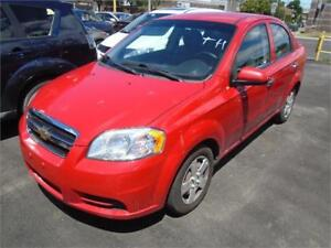 2011 CHEVROLET AVEO 115000KM, AIR CLIMATISE $3995