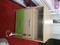 x 2 bedside tables (from the olympic village) £40 ono