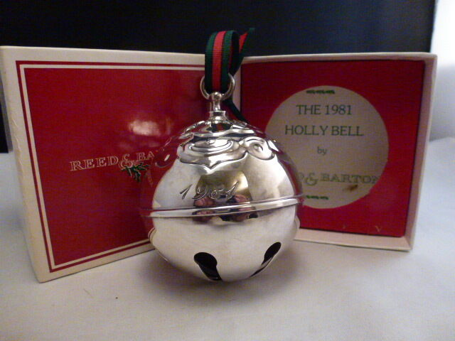 REED & BARTON SILVER PLATE HOLLY BELL 1981