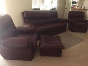 Leather Lounge Suite Ellenbrook Swan Area Preview