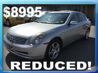 *REDUCED* '04 Infiniti G35 Base, Fantastic Condition! WAS $9995