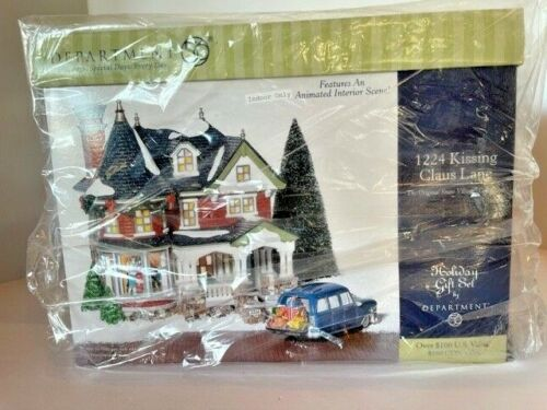 New in Sealed Box Dept 56 Snow Village 1224 Kissing Claus Lane ##55091 Musical