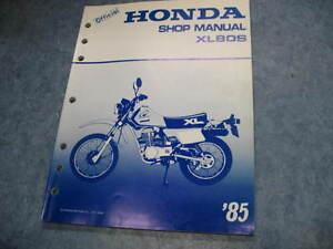 1985 honda xl80s xl 80 owners service manual repair shop Manual Loading Station Loading Artillery Manual