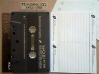 A2Z NOW VERY RARE TDK SA-X 100 DUAL LAYER CHROME CASSETTE TAPES 1992-1995 WITH CARDS CASES LABELS