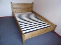 MADE TO ORDER NEW HANDMADE RUSTIC SOLID PINE BED FRAME