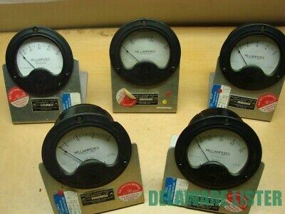 Vintage Lot Of 5x Round Ac Volt Panel Test Meter Gauge Lab Stand Steam Punk
