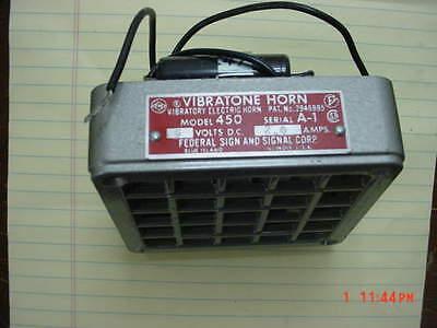 Federal Signal 450 6 Volt Dc 2.0 Amp Horn