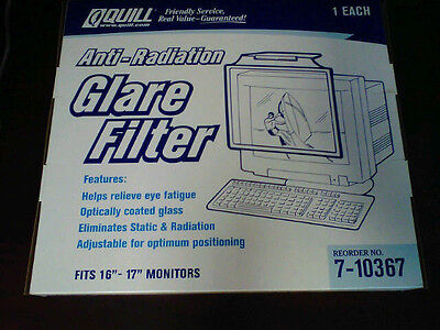 "Adjustable Anti-Radiation Anti-Static Glare Filter for 16"" - 17"" CRT Monitors"