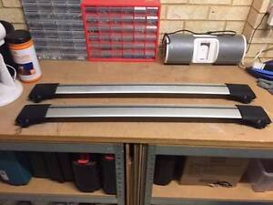 Roofrack Prorack Whispbar S Wing Rail Bars for factory roof rails Secret Harbour Rockingham Area Preview