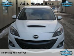 2011 MAZDA 3 GT SPEED 3 WHITE UPGRADED PACKAGE