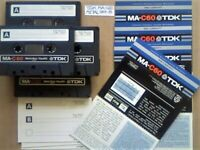 4x TDK MA C60 60 METAL TYPE 4 IV GUARANTEED CASSETTE TAPES 1979-81 W/ CARDS CASES LAB's & FREE P&P