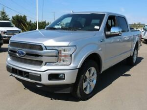 2018 Ford F-150 PLATINUM, 700A 3.5L V6, 4X4, HEATED SEATS, LTHER
