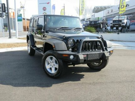 2015 Jeep Wrangler JK MY2016 Unlimited Sport Black 5 Speed Automatic Softtop Wickham Newcastle Area Preview