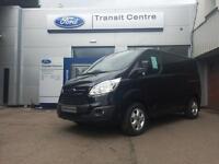NEW Ford Transit Custom 2.0TDCI 130PS 290 L1H1 Limited in Black+ 230V, Roof Rack