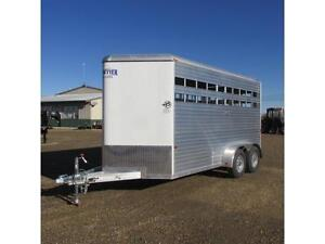 NEW 2016 Frontier 16' Livestock Aluminum Trailer with Tandem 3.5