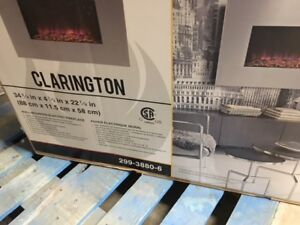 Master Flame Clarington Wallmount Fireplace