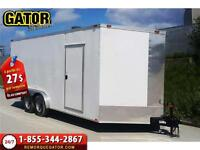 REMORQUE FERMÉE V-NOSE ENCLOSED TRAILER CARGO GATOR 8.5X16