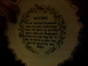 Mother Poem Plate & Great-Grandmother Poem Candle