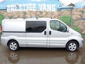* Finance Me - No VAT * Vauxhall Vivaro 2.0CDTi Sportive LWB Crew Van Roof Rack
