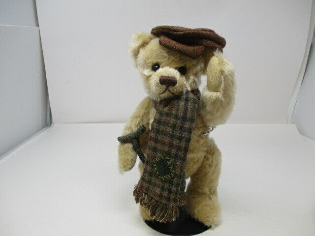 Franklin MInt Heirloom TINY TIM Teddy Bear w/Stand - Donna Hodges