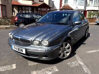 JAGUAR X TYPE 2005 2.0 DIESEL SE GREY FULL LEATHER ALLOYS 128 BHP HPI CLEAR 5 DOOR LUXURY CAR