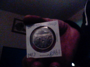 1969-1$coin. Canadian