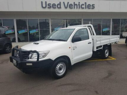 2014 Toyota Hilux KUN16R MY14 SR 4x2 White 5 Speed Manual Cab Chassis Blair Athol Port Adelaide Area Preview