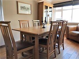 Ducal solid oak dining room furniture.
