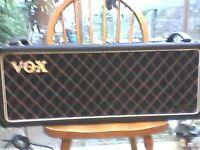 VOX VS125 80's valve head,uk made. Swap for hi gain full valve head 30 watts+