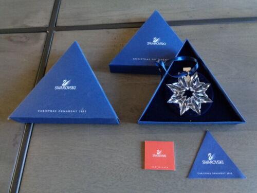 2003 SWAROVSKI Crystal Snowflake Ornament NIB