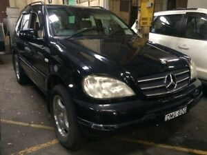 1999 Mercedes-Benz ML 320 (4x4) Black 5 Speed Auto Tipshift Wagon Georgetown Newcastle Area Preview