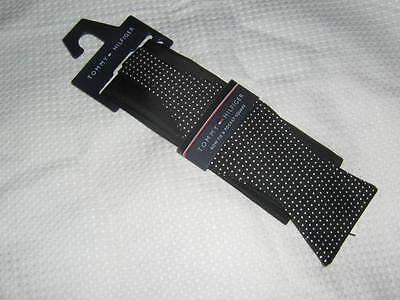 Tommy Hilfiger Black Bow Tie & Solid Pocket Square NIP  (Solid Black Bow Tie)
