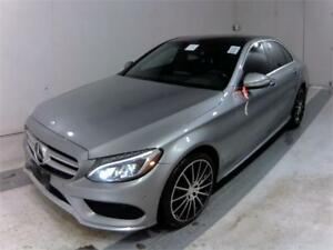 2015 MERCEDES BENZ C400 4MATIC AMG PKG |NAV|CAM|B.SPOT|H.UP|WARR