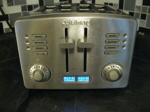CUISINART STAINLESS STEEL 4 SLICE TOASTER(extra wide slices)